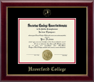 Haverford College Diploma Frame - Gold Embossed Diploma Frame in Gallery