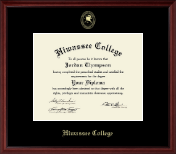 Hiwassee College Diploma Frame - Gold Embossed Diploma Frame in Camby
