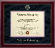 Indiana University - Purdue University at Indianapolis Diploma Frame - Gold Embossed Diploma Frame in Gallery