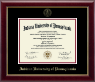 Indiana University of Pennsylvania Diploma Frame - Gold Embossed Diploma Frame in Gallery