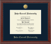 John Carroll University Diploma Frame - 23K Medallion Diploma Frame in Signature