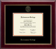 Kalamazoo College Diploma Frame - Gold Embossed Diploma Frame in Gallery