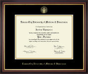 Kansas City University of Medicine and Biosciences Diploma Frame - Gold Embossed Diploma Frame in Regency Gold