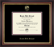 Kents Hill School Diploma Frame - Gold Embossed Diploma Frame in Regency Gold