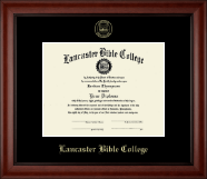 Lancaster Bible College Diploma Frame - Gold Embossed Edition Frame in Cambridge