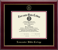 Lancaster Bible College Diploma Frame - Gold Embossed Edition Frame in Gallery