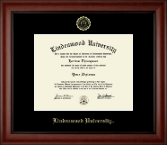 Lindenwood University Diploma Frame - Gold Embossed Diploma Frame in Cambridge