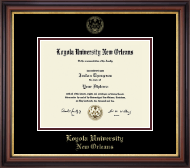 Loyola University New Orleans Diploma Frame - Gold Embossed Diploma Frame in Regency Gold