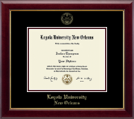 Loyola University New Orleans Diploma Frame - Gold Embossed Diploma Frame in Gallery