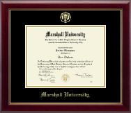 Marshall University Diploma Frame - Gold Embossed Diploma Frame in Gallery