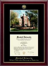 Marshall University Diploma Frame - Campus Scene Diploma Frame in Gallery