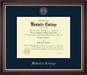 Medaille College Diploma Frame - Gold Embossed Diploma Frame in Regency Gold