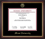 Miami University Diploma Frame - Gold Embossed Diploma Frame in Regency Gold
