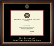 Mary Institute and Saint Louis Country Day School Diploma Frame - Gold Embossed Diploma Frame in Regency Gold