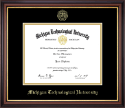 Michigan Technological University Diploma Frame - Gold Embossed Diploma Frame in Regency Gold