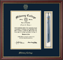 Midway College Diploma Frame - Tassel Diploma Frame in Newport