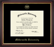 Millersville University of Pennsylvania Diploma Frame - Gold Embossed Diploma Frame in Regency Gold