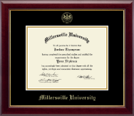 Millersville University of Pennsylvania Diploma Frame - Gold Embossed Diploma Frame in Gallery