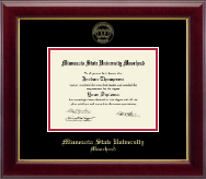 Minnesota State University Moorhead Diploma Frame - Gold Embossed Diploma Frame in Gallery