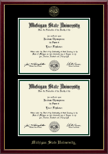 Michigan State University Diploma Frame - Double Diploma Frame in Galleria
