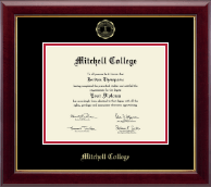Mitchell College Diploma Frame - Gold Embossed Diploma Frame in Gallery