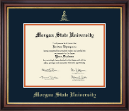 Morgan State University Diploma Frame - Gold Embossed Diploma Frame in Regency Gold