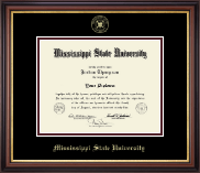 Mississippi State University Diploma Frame - Gold Embossed Diploma Frame in Regency Gold