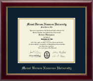 Mount Vernon Nazarene University Diploma Frame - Gold Embossed Diploma Frame in Gallery