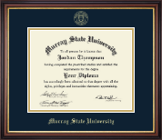 Murray State University Diploma Frame - Gold Embossed Diploma Frame in Regency Gold