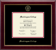 Muskingum College Diploma Frame - Gold Embossed Diploma Frame in Gallery