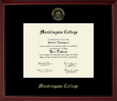 Muskingum College Diploma Frame - Gold Embossed Diploma Frame in Camby