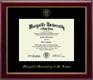 Maryville University of St. Louis Diploma Frame - Gold Embossed Diploma Frame in Gallery