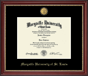 Maryville University of St. Louis Diploma Frame - 23K Medallion Diploma Frame in Kensington Gold