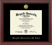 Maryville University of St. Louis Diploma Frame - 23K Medallion Diploma Frame in Signature
