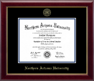 Northern Arizona University Diploma Frame - Gold Embossed Diploma Frame in Gallery