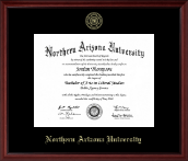 Northern Arizona University Diploma Frame - Gold Embossed Diploma Frame in Camby