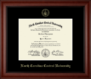 North Carolina Central University Diploma Frame - Gold Embossed Diploma Frame in Cambridge