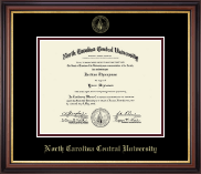 North Carolina Central University Diploma Frame - Gold Embossed Diploma Frame in Regency Gold
