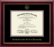 North Carolina Central University Diploma Frame - Gold Embossed Diploma Frame in Gallery