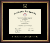 North Carolina State University Diploma Frame - Gold Embossed Diploma Frame in Regency Gold
