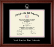 North Carolina State University Diploma Frame - Silver Embossed Diploma Frame in Cambridge