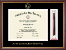 North Carolina State University Diploma Frame - Gold Embossed Tassel Diploma Frame in Newport