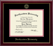 Northeastern University Diploma Frame - Gold Embossed Diploma Frame in Gallery