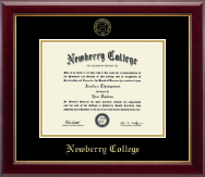 Newberry College Diploma Frame - Gold Embossed Diploma Frame in Gallery