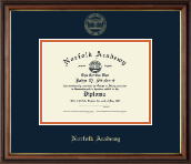 Norfolk Academy Diploma Frame - Gold Embossed Diploma Frame in Williamsburg