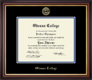 Odessa College Diploma Frame - Gold Embossed Diploma Frame in Regency Gold