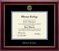 Odessa College Diploma Frame - Gold Embossed Diploma Frame in Gallery