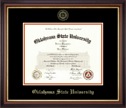Oklahoma State University Diploma Frame - Gold Embossed Diploma Frame in Regency Gold