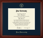 Pace University Diploma Frame - Gold Embossed Diploma Frame in Cambridge