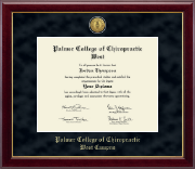 Palmer College of Chiropractic West Diploma Frame - Gold Engraved Medallion Diploma Frame in Gallery